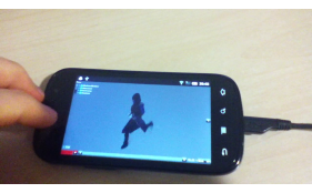 Model viewer with animated character running on android