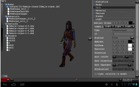 Model Viewer main UI on Android